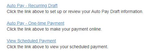 Auto pay selection